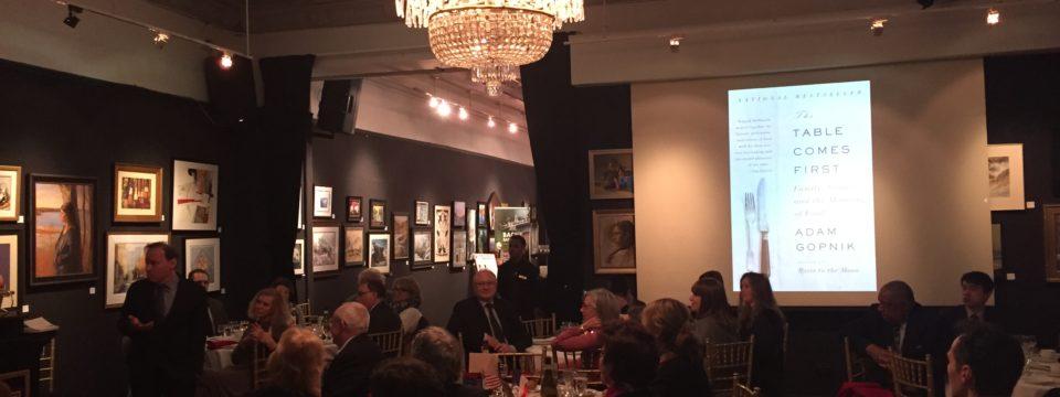 December 8, 2016 Dinner with Adam Gopnik