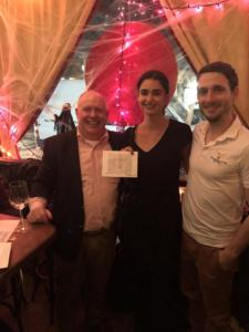 Congratulations to Carla Andersson won a ticket to La Soireée d'automne on November 12th in la tombola.